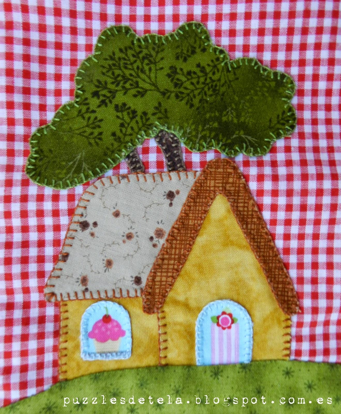 Bolsa de merienda patchwork, mochila patchwork, Caperucita Roja, patchwork, Puzzles de tela, mochila, bolsa de merienda, bags, bag