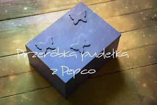 Przeróbka pudełka z Pepco – Motyle
