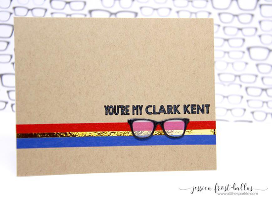 Laina Lamb Design Geek is Chic stamp set and Geek is Chic Glasses Die-namics - Jessica Frost-Ballas #mftstamps