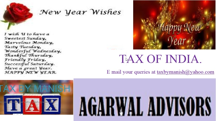 TAX BY MANISH: NEW YEAR WISHES