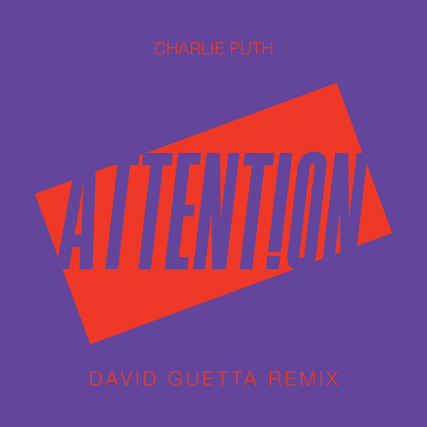Charlie Puth - Attention (David Guetta Remix) - Single Cover