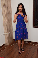 Pallavi Dora Actress in Sleeveless Blue Short dress at Prema Entha Madhuram Priyuraalu Antha Katinam teaser launch 040.jpg