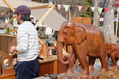 まつもと古市(ふるいち)#24 木彫りの象の像
