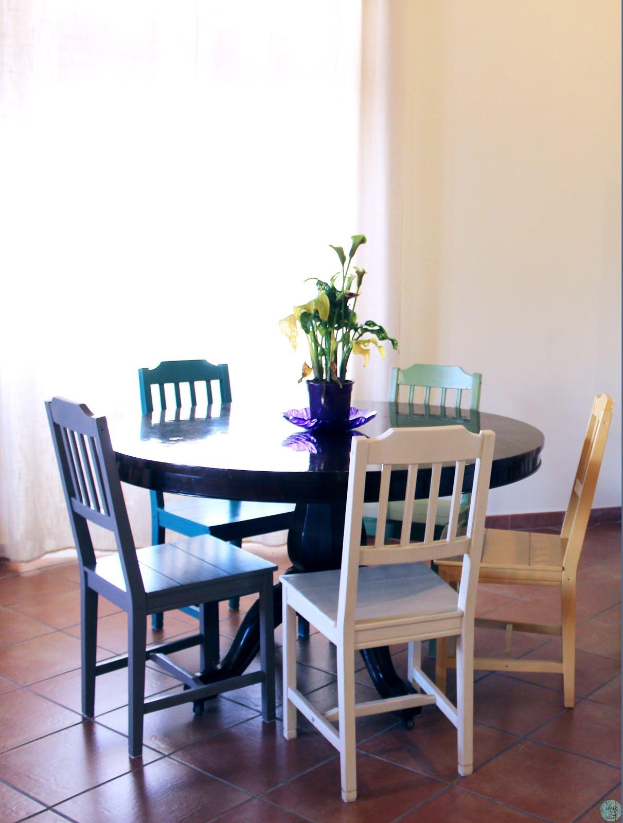 Sedie in legno colorate for Sedie legno colorate