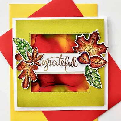 Grateful by Bobbi features Beautiful Leaves and Thankful Thoughts by Newton's Nook Designs; #newtonsnook