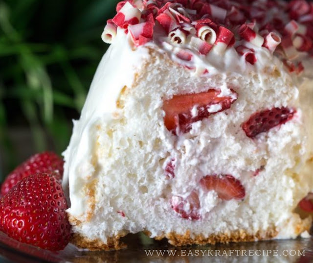 STRAWBERRY FILLED ANGEL FOOD CAKE RECIPE