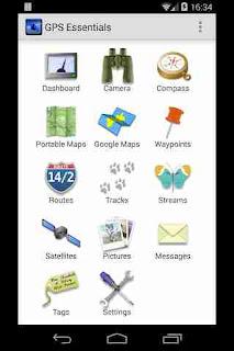 Tampilan Aplikasi GPS Essentials