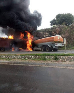 Breaking: Another fire incident involving a fuel tanker occurs barely 24 hours after Lagos incident