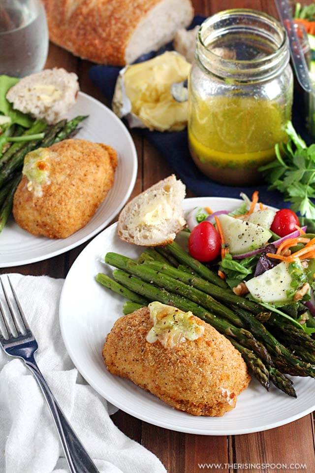 Easy Weeknight Stuffed Chicken Breast with Sides