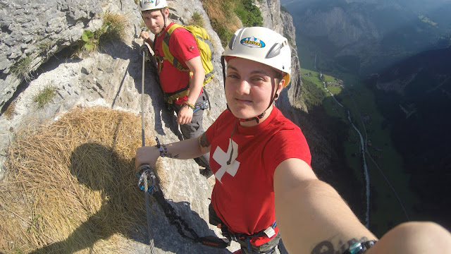 Via Ferrata, Switzerland, Best GoPro Accessories for travel & Adventure, which GoPro accesories, go pro, case, mount, GoPro hero 4 silver, 4k, strap, leash, clips, replacement, backdoor, protective cover, bag, wrist, head, chest, floatation, floaty back door, floating handle, sticky mounts, helmet mount, selfie stick, tripod, batteries, memory cards, water droplets on gopro screen, lens,