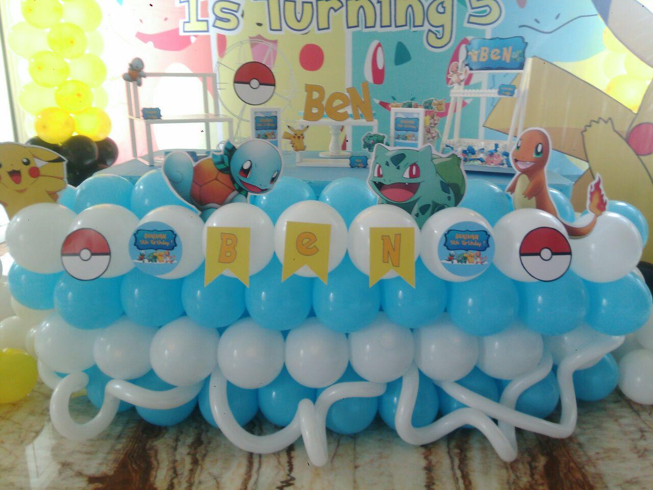 Dekorasi Ulang Tahun Tema Pokemon