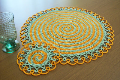 Placemat and Coaster Set Tatting and Crochet pattern