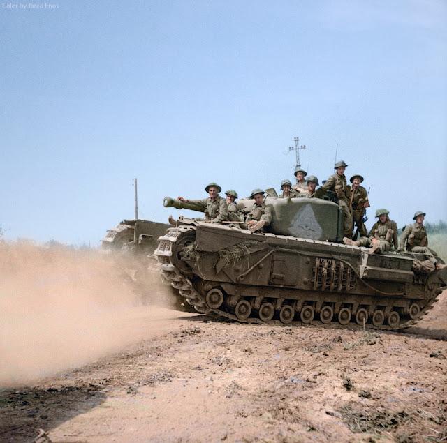 Churchill tank Color photos World War II worldwartwo.filminspector.com