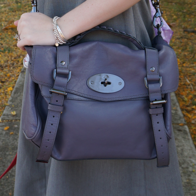 Away from Blue blog Mulberry foggy grey alexa bag