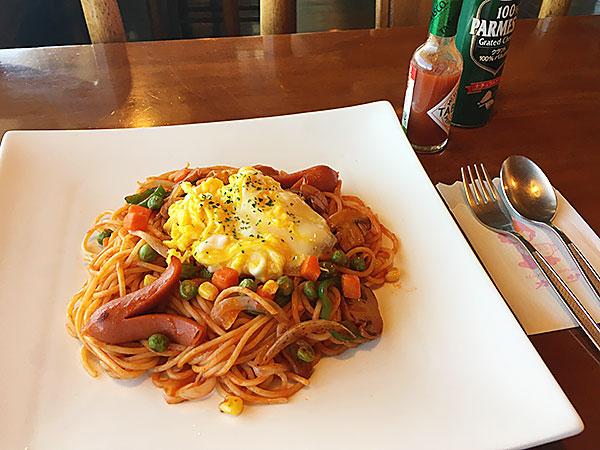 静岡県島田市にある静岡屈指の絶景が楽しめるレストラン『カンサー』のカンサースパゲティ