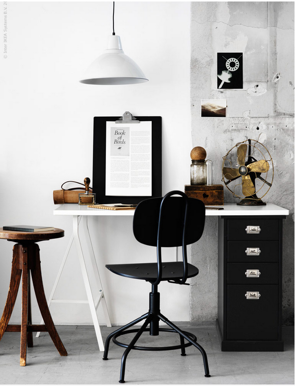 Popular New Industrial Vintage Style Office Chair at IKEA