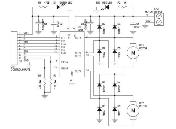 dual h bridge circuit