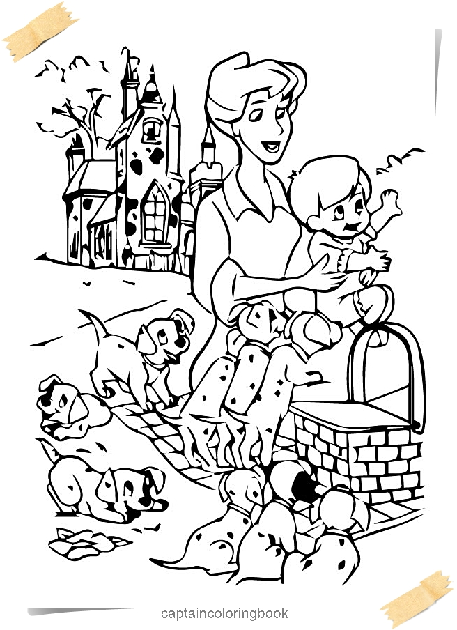 101 Dalmatians Coloring Pages - Coloring Page