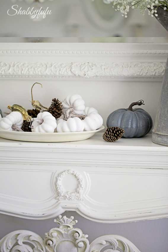 elegant french fall mantel