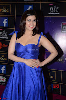 Mannara Chopra in Deep Neck Blue Gown at Zee Telugu Apsara Awards ~  Exclusive 020.jpg