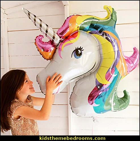 Rainbow Unicorn Shape Mylar Balloons  unicorn party supplies - rainbow unicorn party decorations - unicorn birthday party - Unicorn Themed Party -  Unicorn Balloons  -  unicorrn cupcakes - rainbow decorations - Unicorn  Garlands - sequin tablecloth - tutu table skirt -