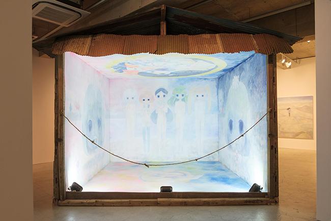 Installation view, Kaikai Kiki Gallery, Ob solo exhibition 2017. Photo Ikki Ogata.