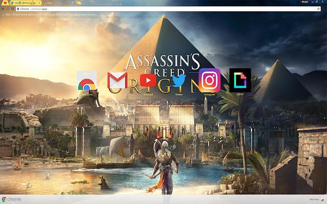 Assassins Creed Origins Ubisoft Free Theme FOR Chrome