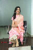Actress Ritu Varma Pos in Beautiful Pink Anarkali Dress at at Keshava Movie Interview .COM 0217.JPG