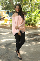 Rakul Preet Singh in lovely Pink Crop Top and Black Trousers at Jaya Janaki Nayaka success meet 079.JPG