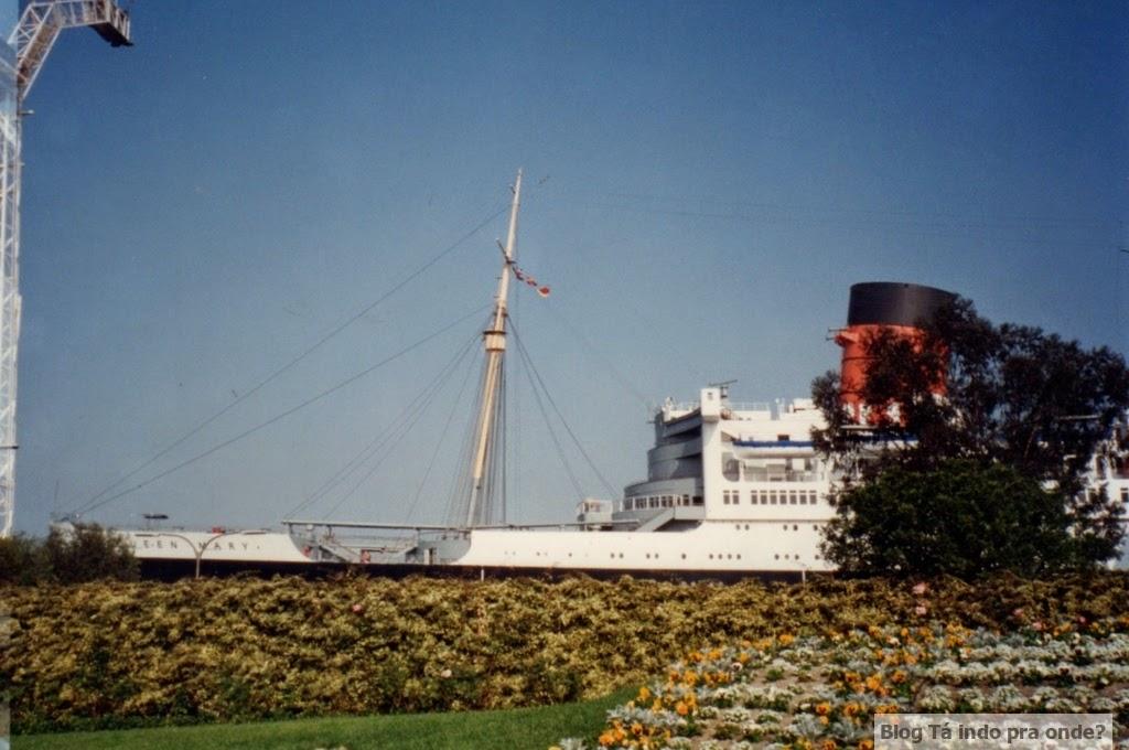 navio Queen Mary em Los Angeles