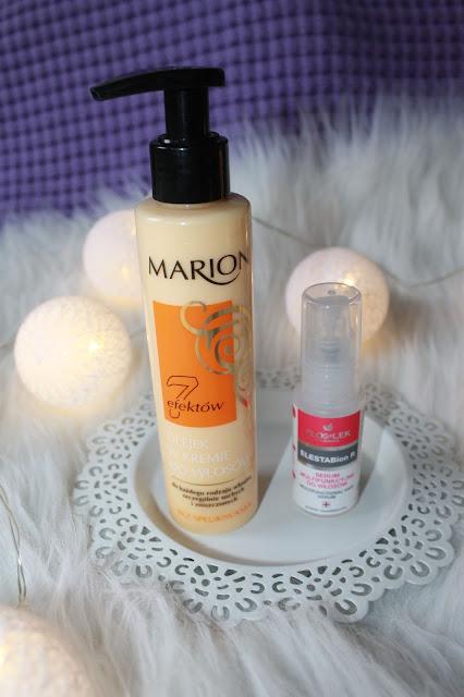 MARION 7 efektów - olejek w kremie i FlosLek ELESTABion R - serum do włosów.