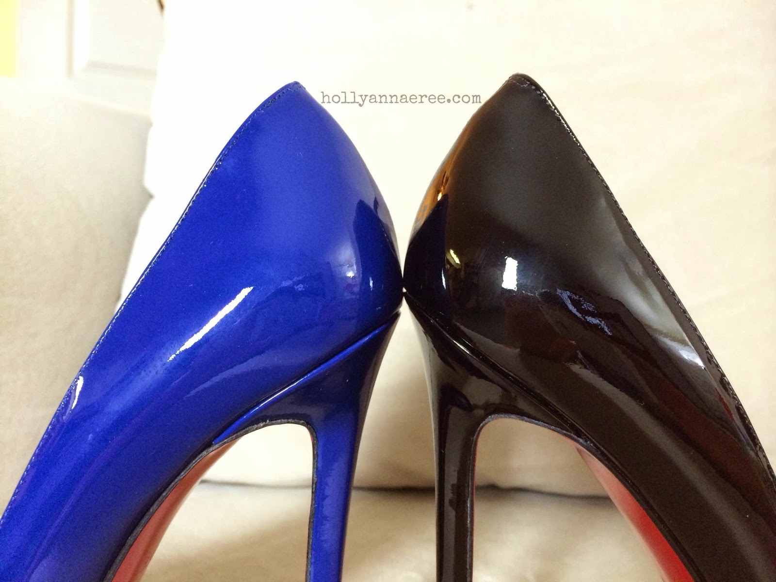 9bc4616cb347 Holly Ann-AeRee 2.0  Changes to the Christian Louboutin Pigalle 120mm -  WHYYY ! ! Comparison Photos (pic heavy)
