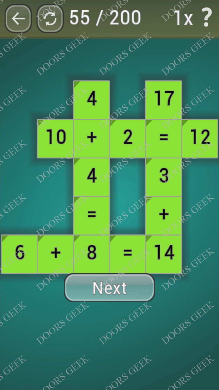 Math Games [Beginner] Level 55 ~ Doors Geek