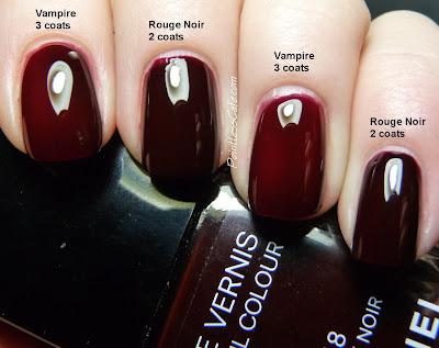 comparison request chanel rouge noir vs picture polish vampire pointless cafe. Black Bedroom Furniture Sets. Home Design Ideas