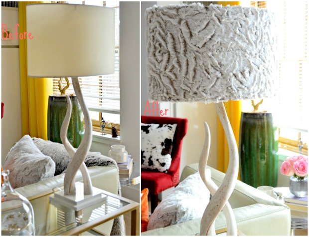 DIY.WestElm.Source Kudu Table Lamp.Makeover.Before+After