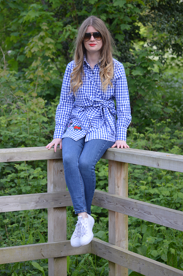 ASOS Gingham shirt fashion bloggers