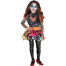 Monster High Party City Skelita Calaveras Outfit Small Child Costume