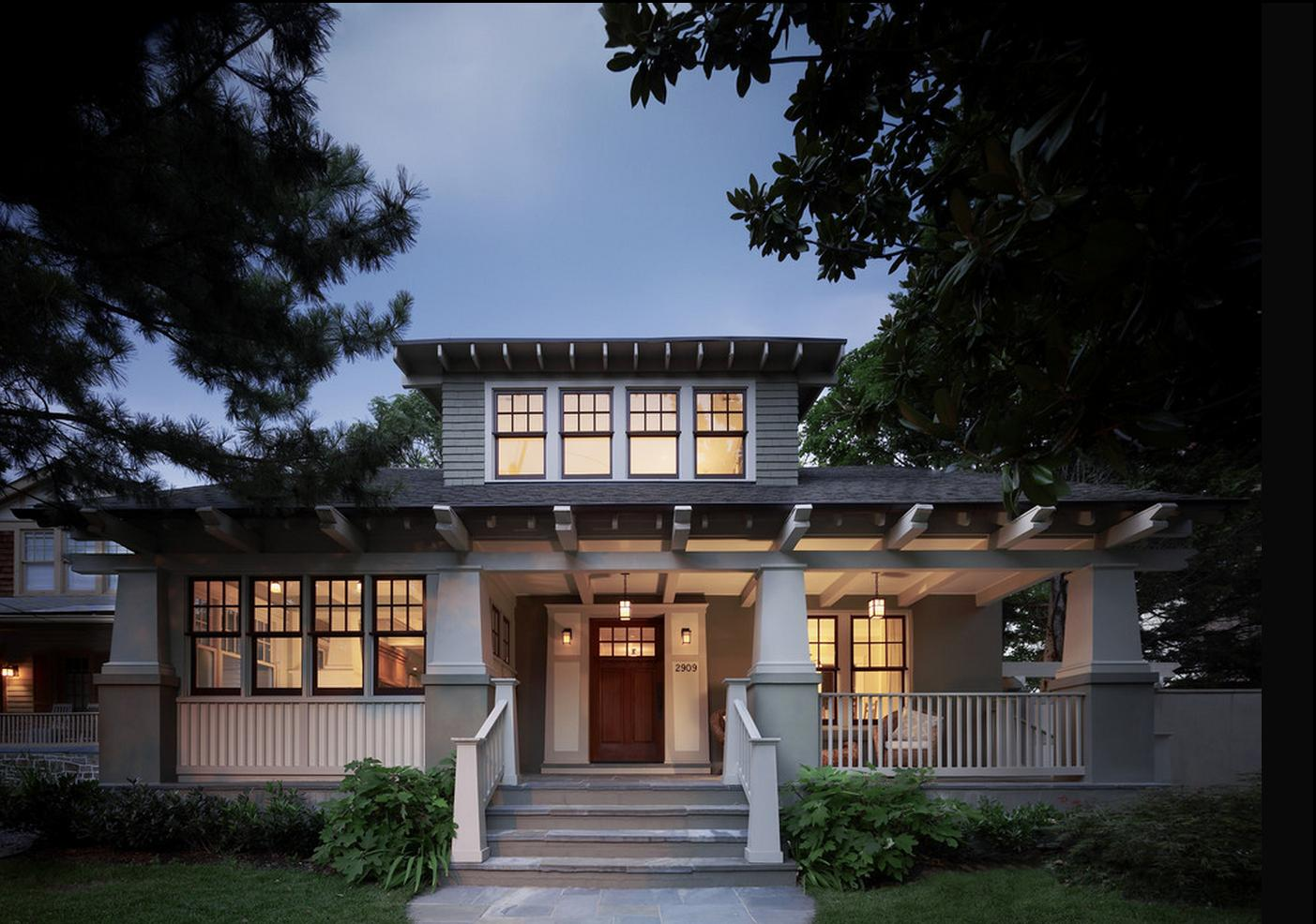 Delorme designs craftsman style home wythe blue hc 143 - What is a craftsman home ...