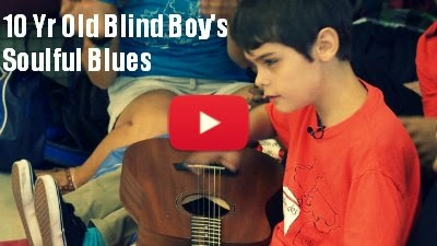 atch this 10 year old Blind boy,Felix De St-Hilaire from Quebec perform the soulful Blues as he sings and plays it on Guitar via geniushowto.blogspot.com music prodigy videos