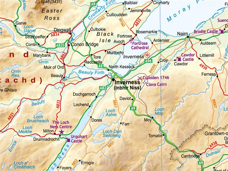 Online Maps Inverness Scotland Map