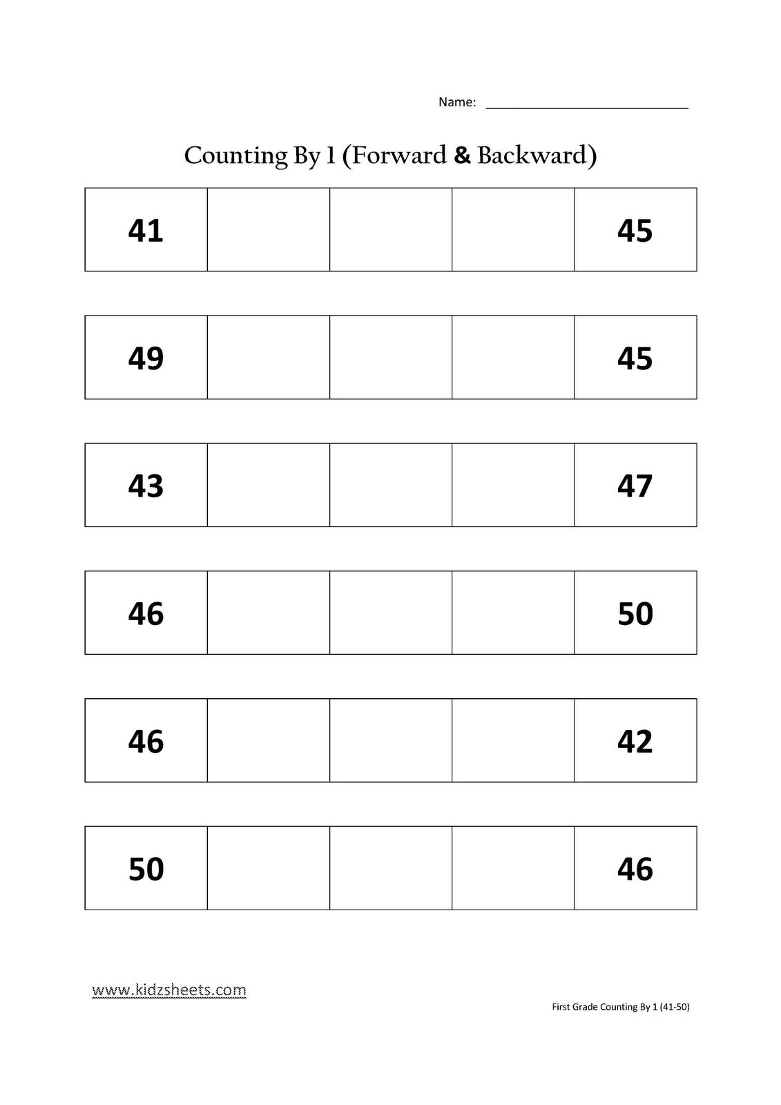 Workbooks kindergarten number worksheets 1-20 : Kindergarten Worksheet » Kindergarten Worksheets Counting To 50 ...
