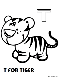 Tt For Tiger Coloring Pages With Name