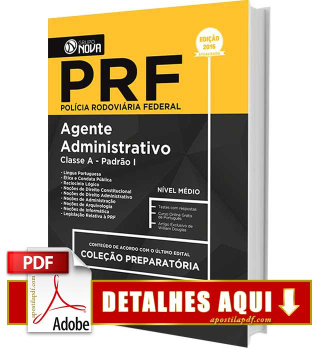 Apostila PRF 2016 Agente Administrativo Impressa