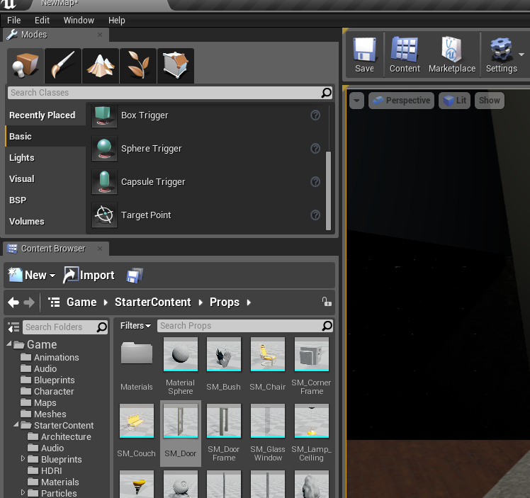 Create an automatic door in ue4 onlinedesignteacher step 5 adding a box trigger malvernweather Images