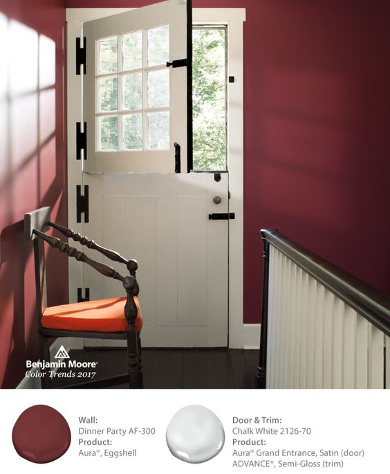 Benjamin Moore Dinner Party is one of 24 beautiful colors in the 2017 color palette