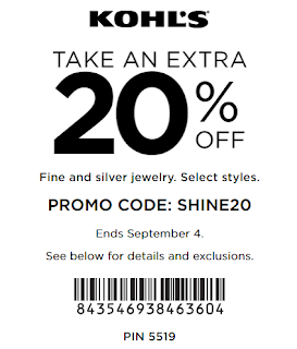 Kohls coupon save 20% Off Fine Jewelry