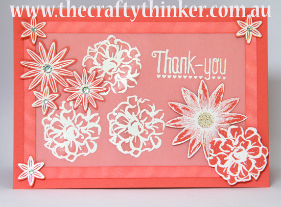 #SU, Another Thank You, Heat embossing on vellum, Heat Embossing