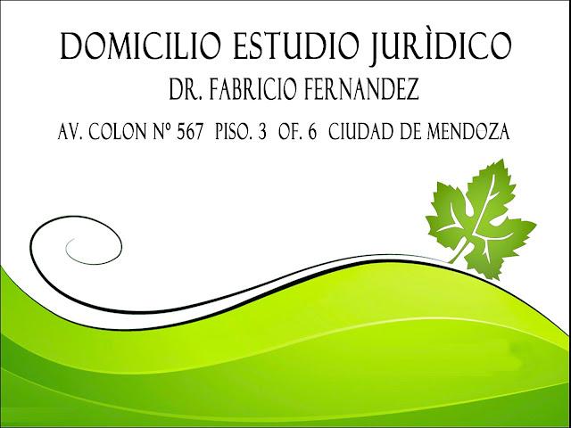 Domicilio estudio Jurìdico Dr. Fabricio Fernandez. Abogado