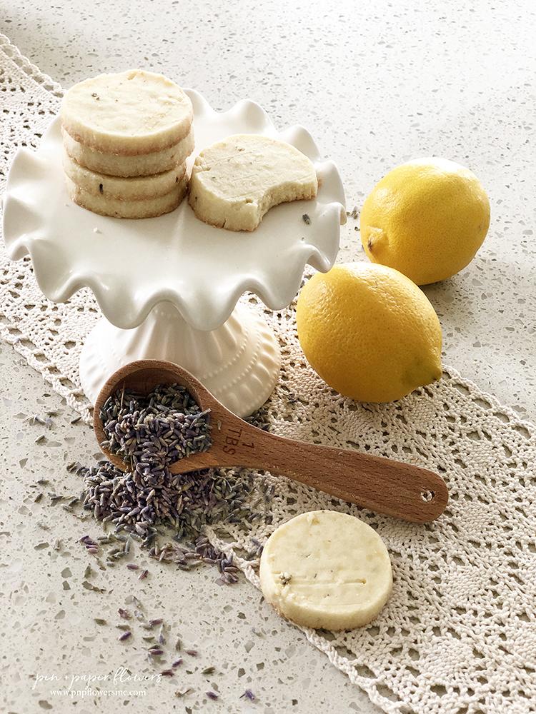 Pen Paper Flowers Magnolia Table Lemon Lavender Icebox Cookies
