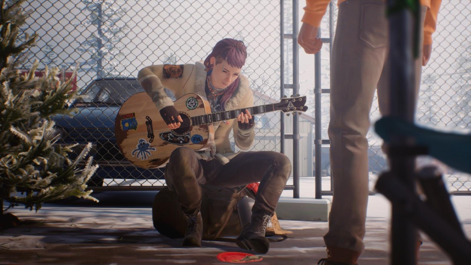 Cassidy gitározok és énekel; Sean élvezi a produkciót.
